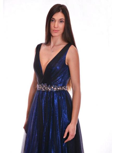 Vestido de fiesta largo, de estilo princesa. Modelo Anabella. [1]