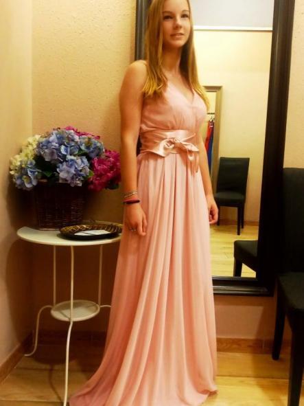 Vestido de fiesta largo. Modelo Eliana.