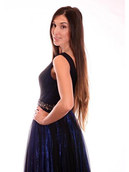 Vestido de fiesta largo, de estilo princesa. Modelo Anabella. [2]