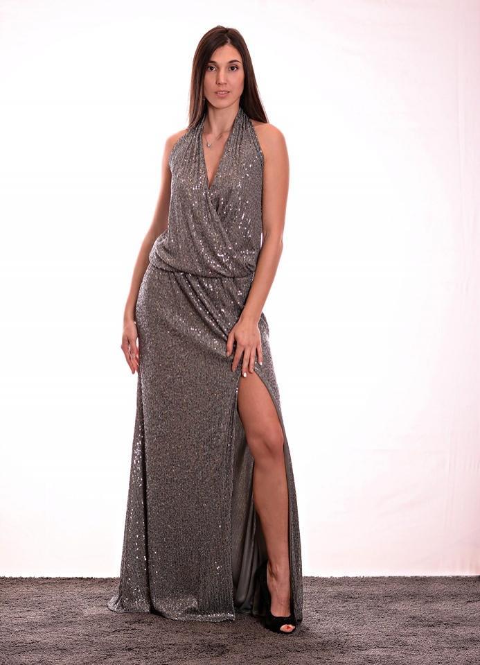 Vestido de fiesta largo. Modelo Abigail.