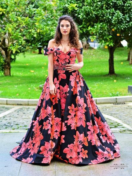 Vestido de fiesta largo. Modelo Barei