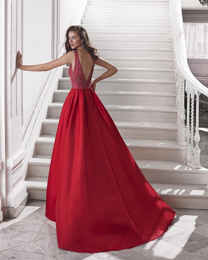 Vestido de fiesta largo. Modelo Carolina