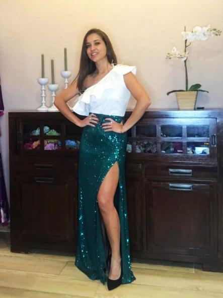 Falda de fiesta larga. Modelo Naya.