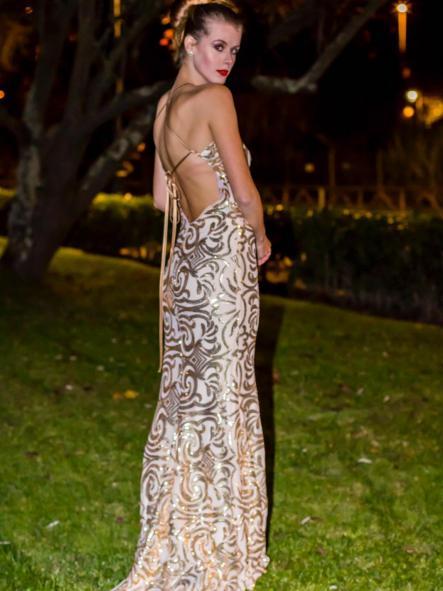 Vestido de fiesta largo. Modelo Cándice.