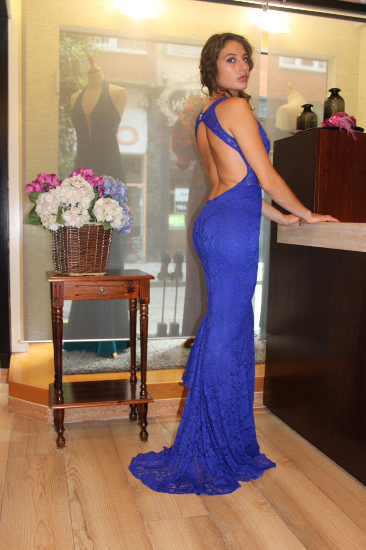 Vestido de fiesta largo. Modelo Carlota