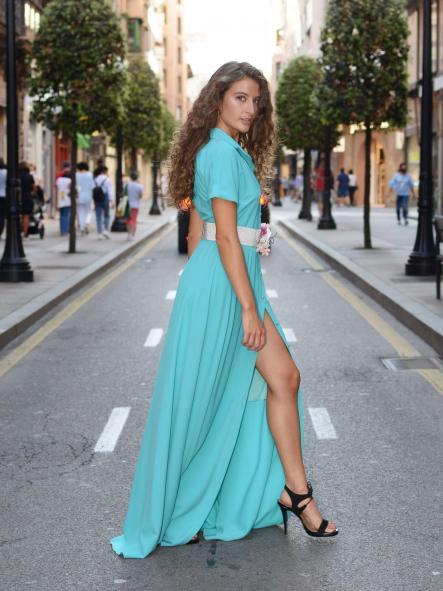 Vestido de fiesta largo. Modelo Isadora.