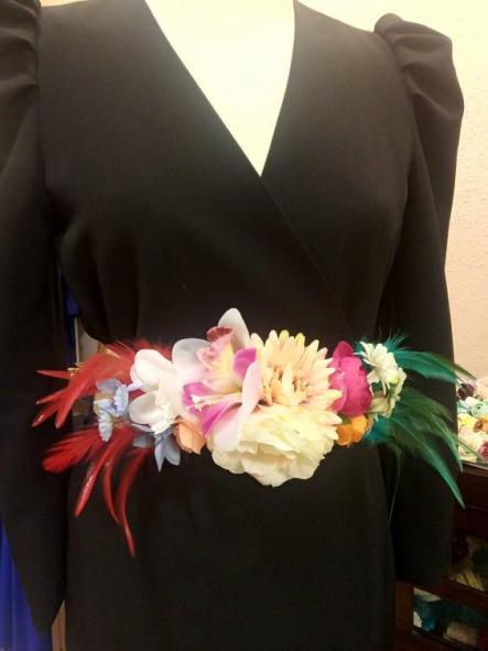 Cinturón de flores. [0]