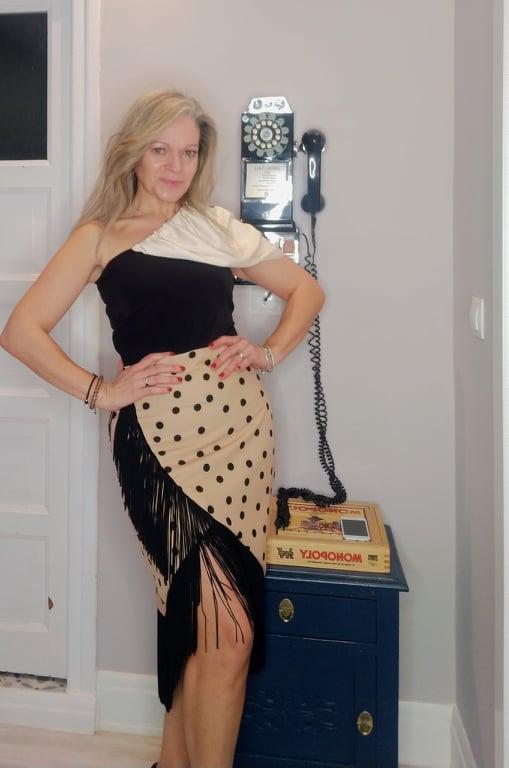 Falda de flecos. Modelo Sevilla.