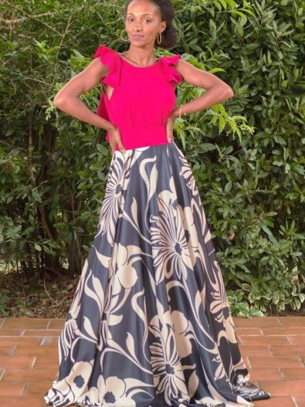 Vestido de fiesta largo. Modelo Carinne. [1]