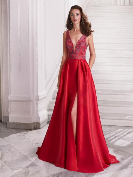 Vestido de fiesta largo. Modelo Carolina [1]