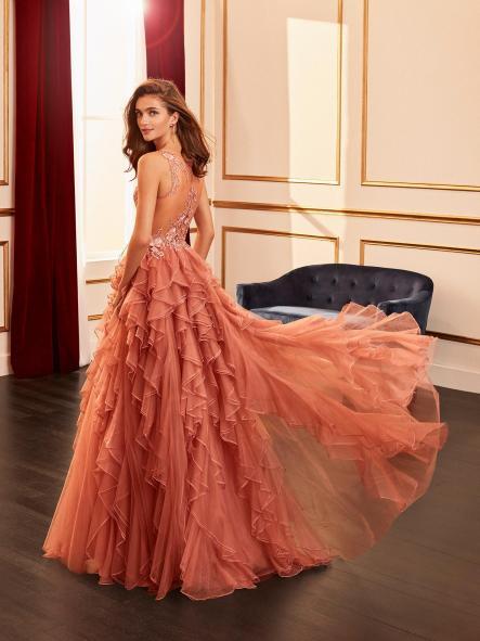 Vestido de fiesta largo. Modelo Princesa. [1]