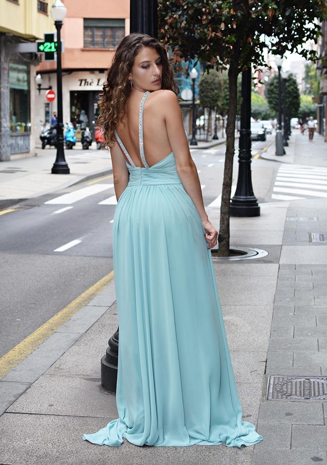 Vestido de fiesta largo. Vestido Grecia