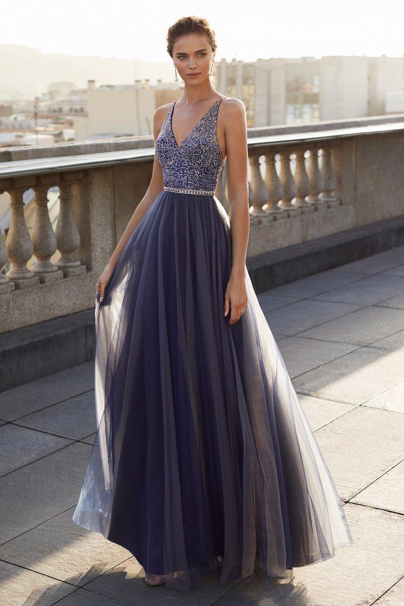 Vestido de fiesta largo .Colección Luxe.
