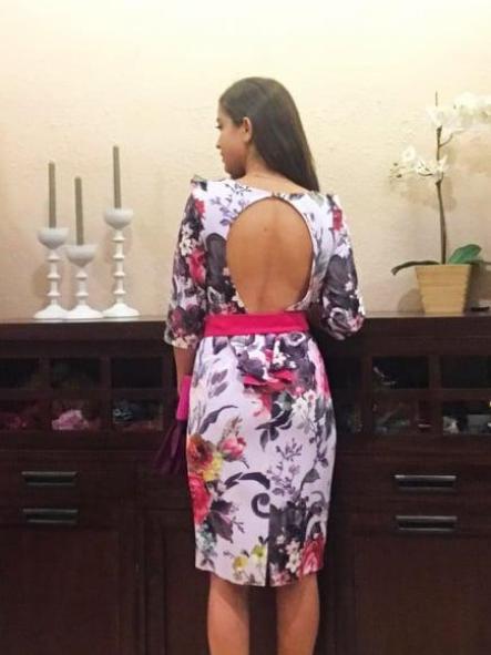 Vestido de fiesta corto. Modelo Natalia. [1]
