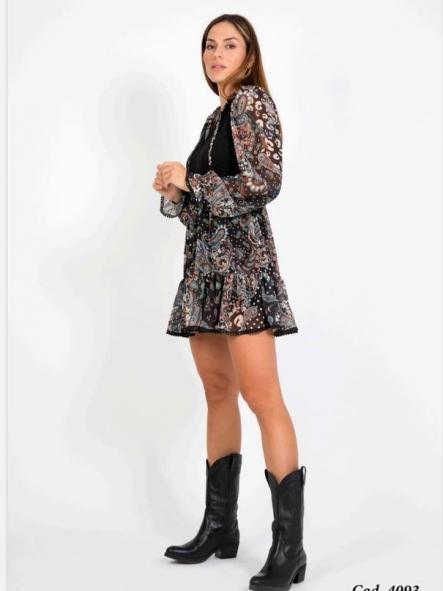 Vestido corto casual. Modelo Aina