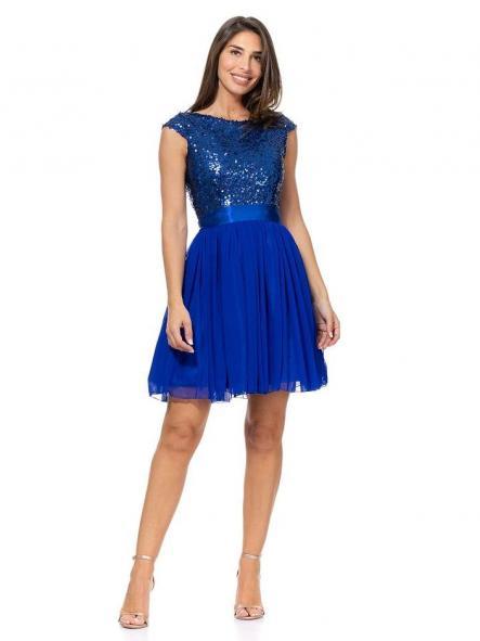 Vestido de fiesta corto. Modelo Princesa.