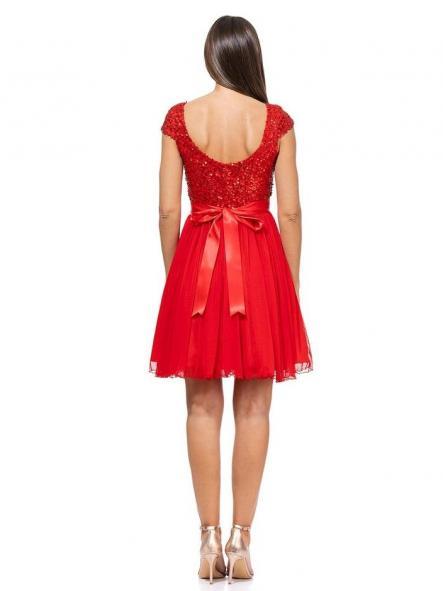Vestido de fiesta corto. Modelo Princesa. [1]