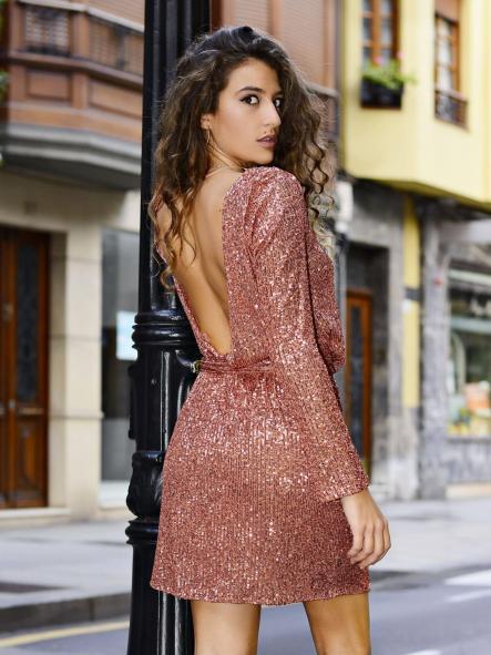 Vestido de fiesta corto.Modelo Sahira.