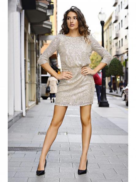 Vestido corto.Modelo Saruk. [1]