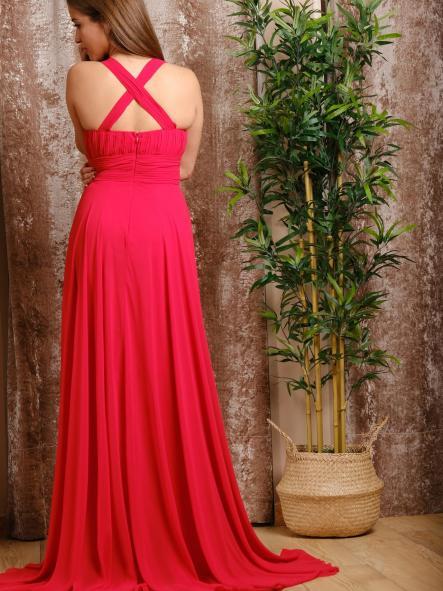 Vestido de fiesta largo.  Rojo Valentino. [1]