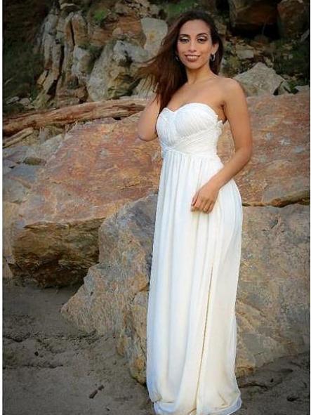 Vestido de fiesta largo. Modelo Blanca. [1]