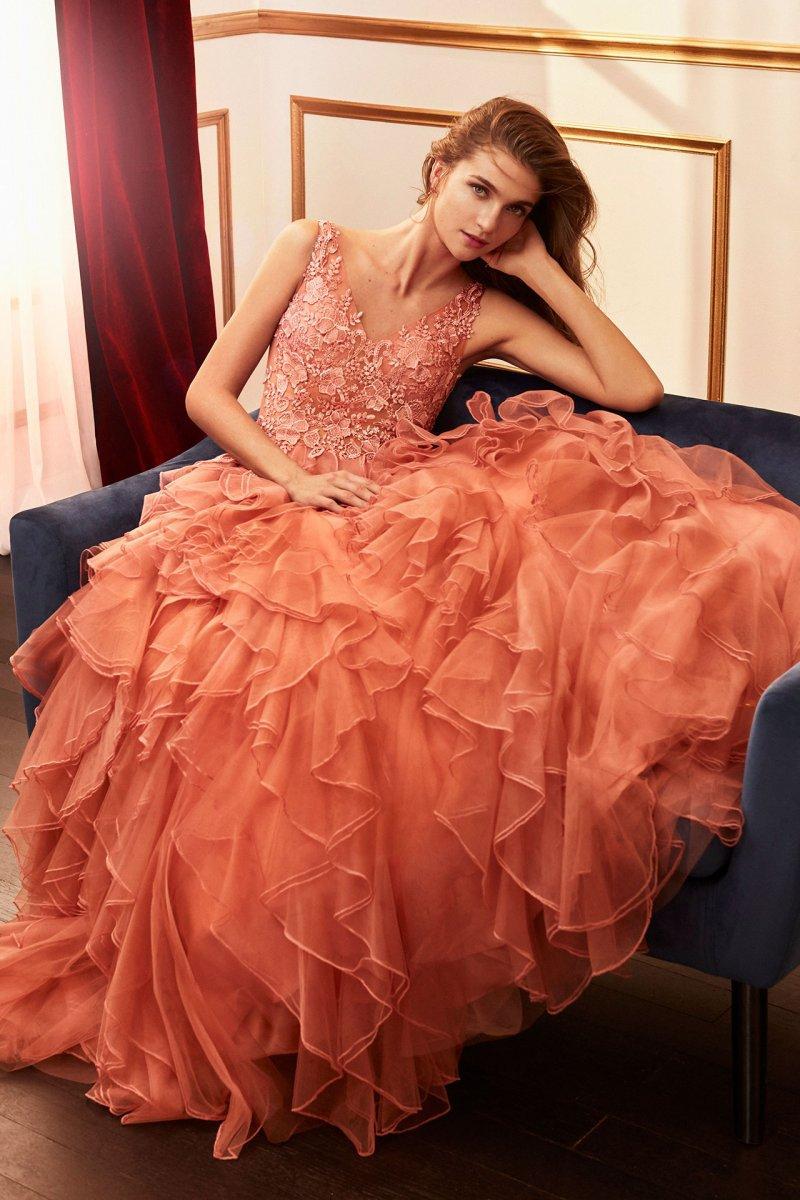Vestido de fiesta largo. Modelo Princesa.