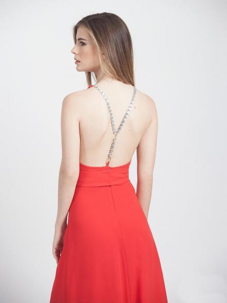 Vestido de fiesta largo. Rojo. [1]