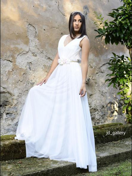 Vestido de fiesta o novia.Modelo Alba.