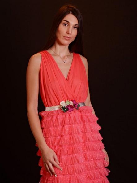Vestido de fiesta largo. Modelo Plumetti [1]