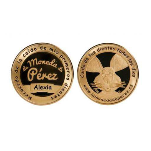 La Pequeña Moneda del Ratoncito Pérez chapada en oro