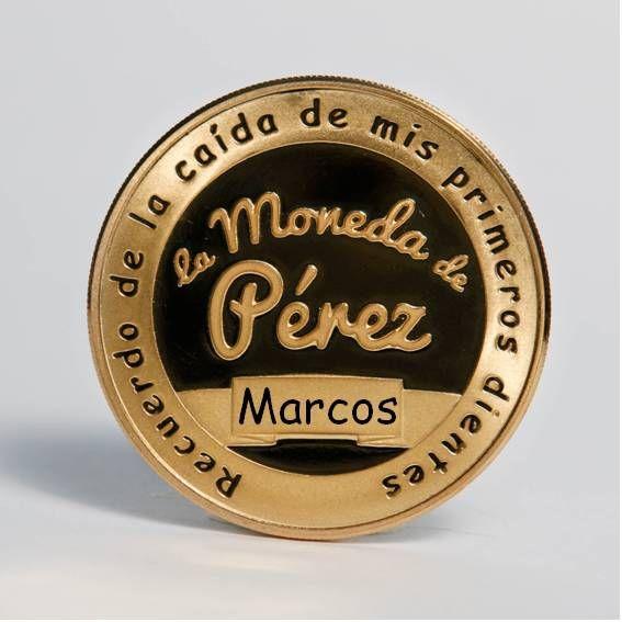 La Gran Moneda de plata pura del Ratoncito Pérez chapada en oro