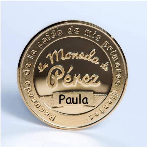 La Moneda del Ratoncito Pérez chapada en oro