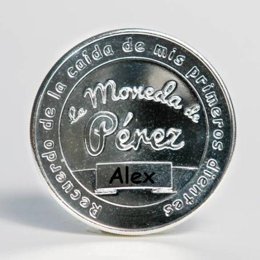 La Moneda del Ratoncito Pérez chapada en plata