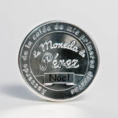 La Pequeña Moneda del Ratoncito Pérez chapada en plata