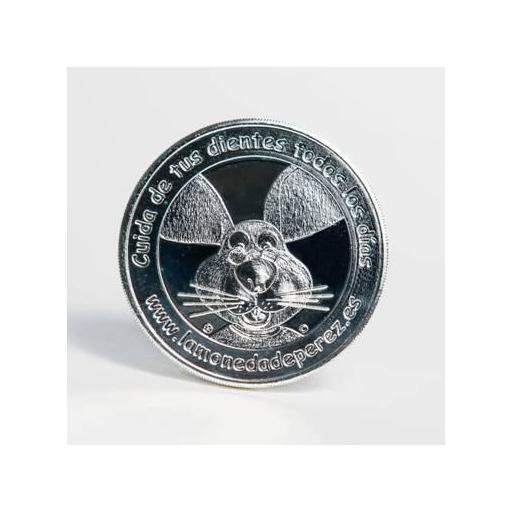 La Pequeña Moneda del Ratoncito Pérez chapada en plata [1]