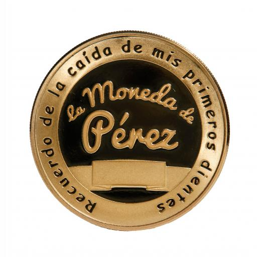 La Pequeña Moneda del Ratoncito Pérez chapada en oro [1]