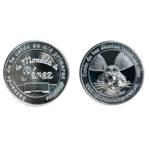 Pack La Pequeña Moneda del Ratoncito Pérez chapada en plata + La Puerta del Ratoncito Pérez [1]
