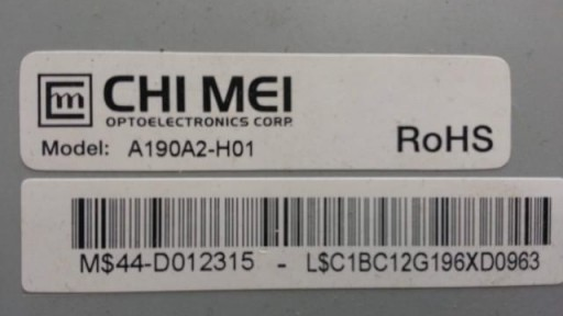 """A190A2-H01 TFT LCD 19"""" CHIMEI"""
