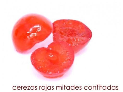 Cereza roja mitades [2]