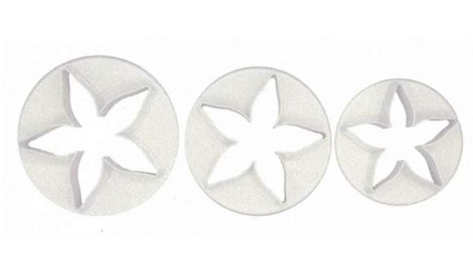 Set 3 cortadores Hoja de Caliz