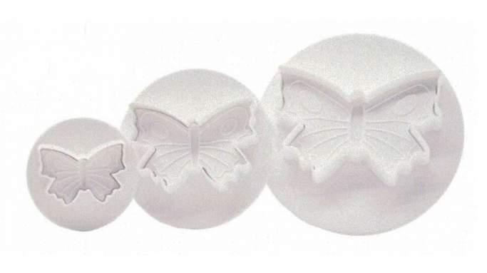 Set 3 cortadores Mariposa