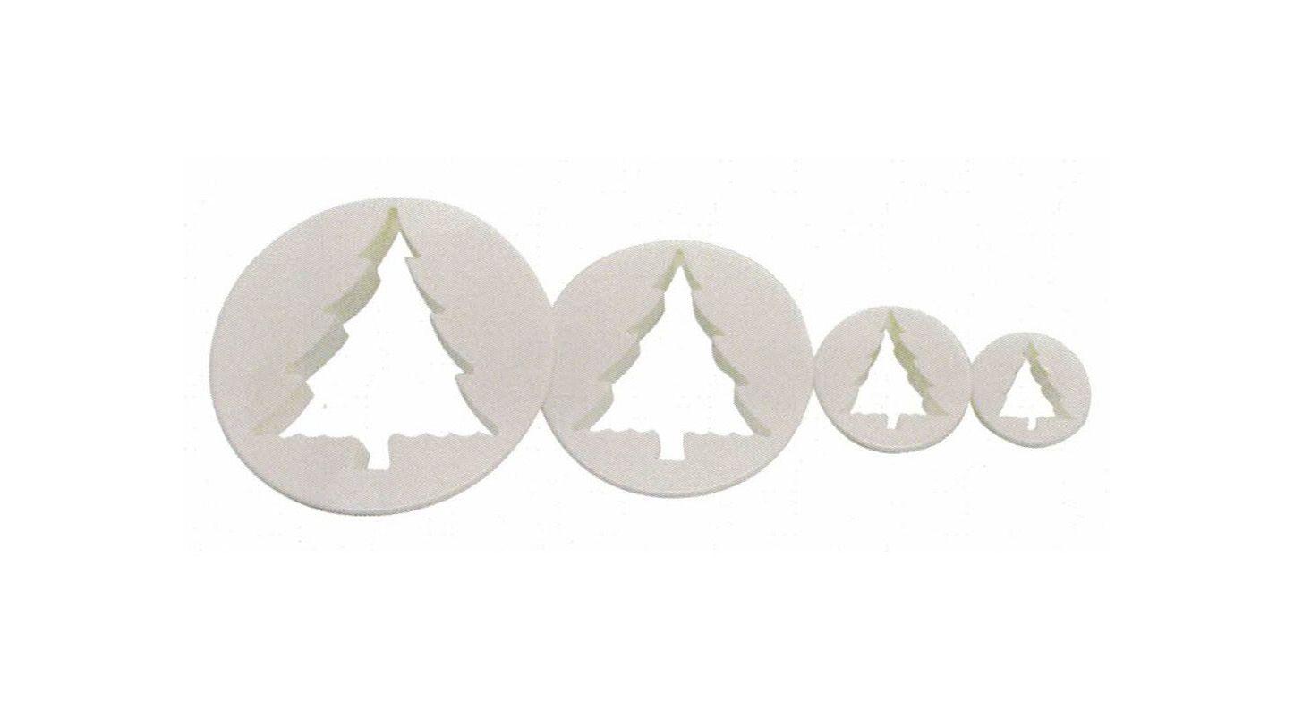 Set 4 cortadores Árbol de Navidad