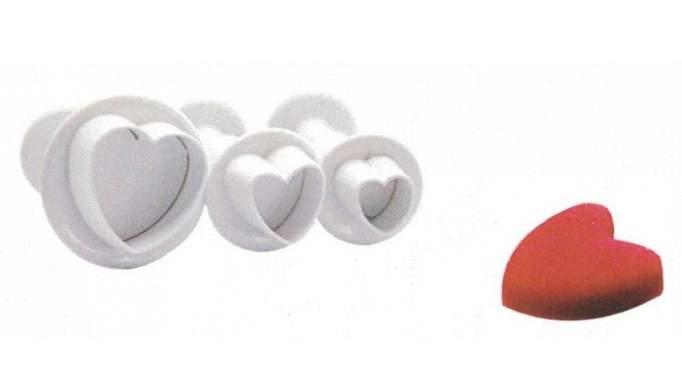 Set 3 cortadores Corazón