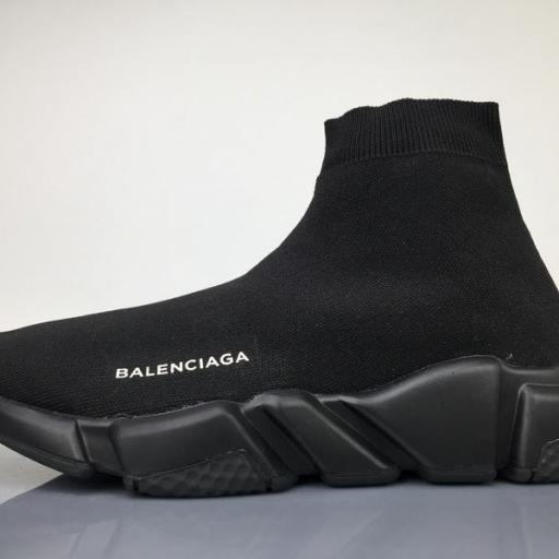 "Balenciaga Stretch Mesh High Top Sneaker ""All Black"""