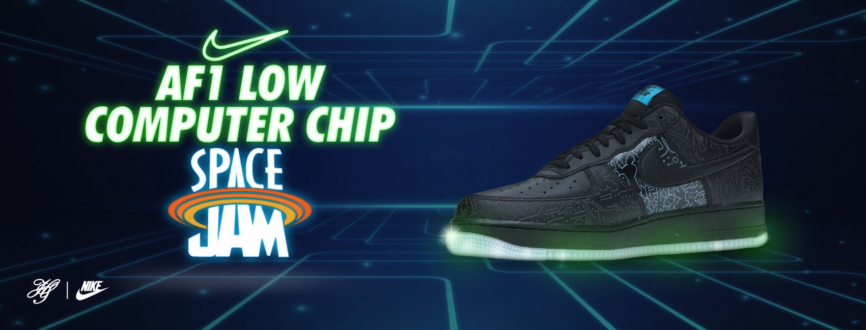 NIKE AIR FORCE 1 '07 X SPACE JAM: COMPUTER CHIP