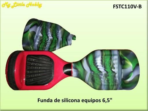 Protector TC110 Silicona verde/blanca