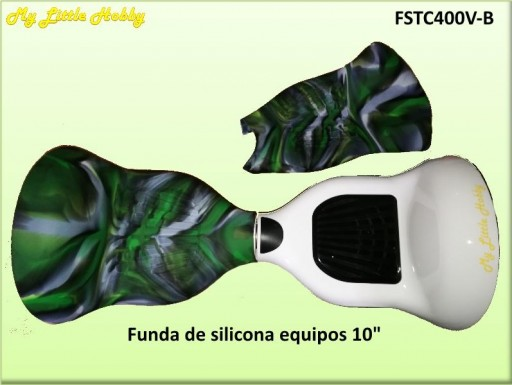 Protector TC400 Silicona Verde Blanco