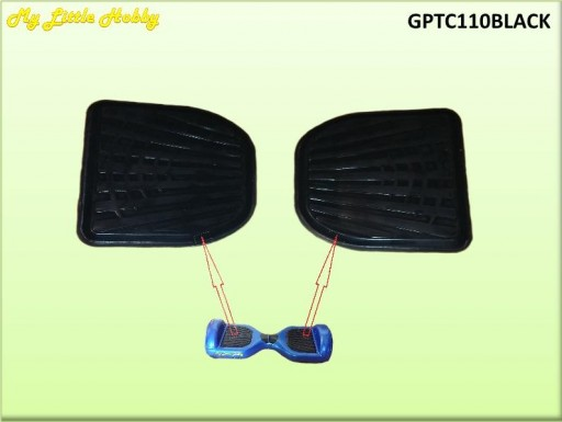 Goma Pedal TC110/TC400 Negra