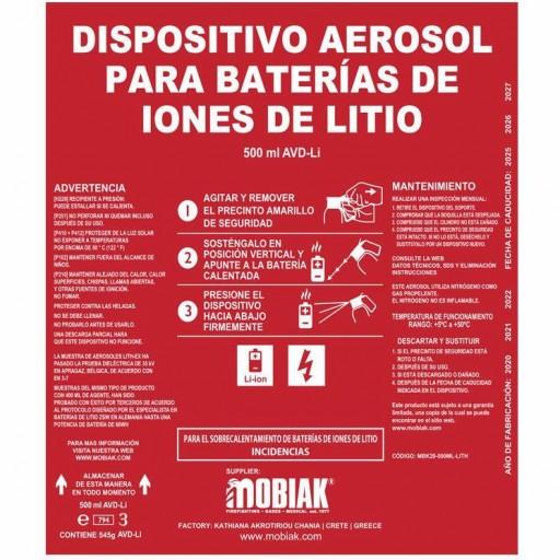 Aerosol extintor para baterías de litio [2]