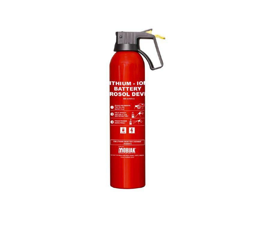 Aerosol extintor para baterías de litio